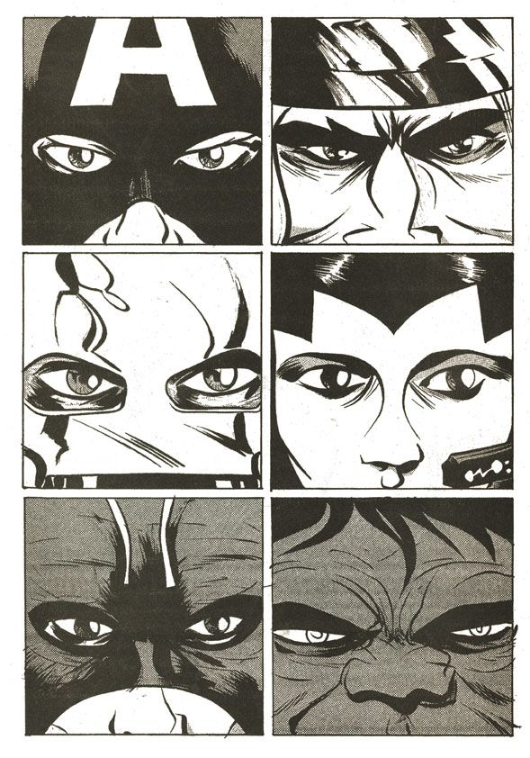 paul popes take on Kirby's the Avengers classic Close up