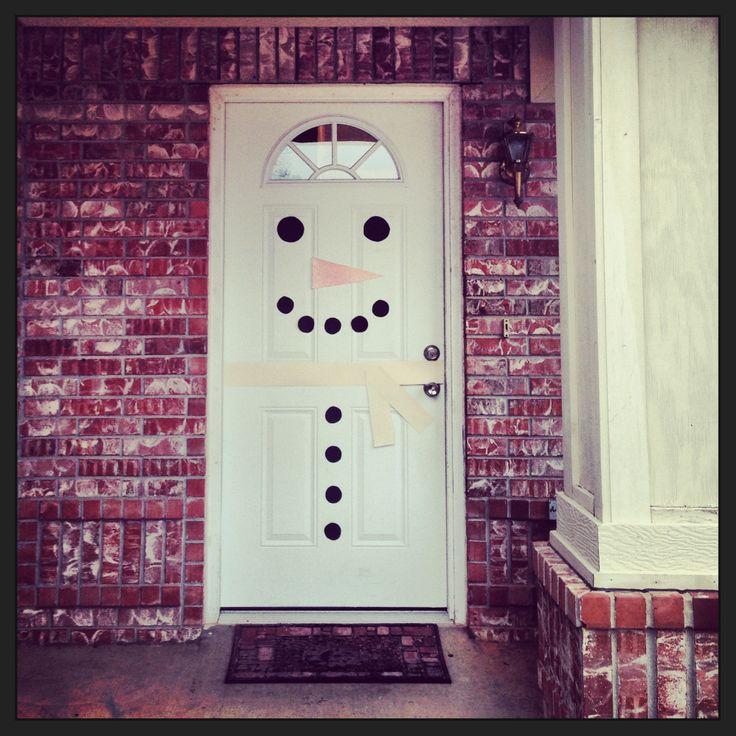 Christmas snowman door decoration diy