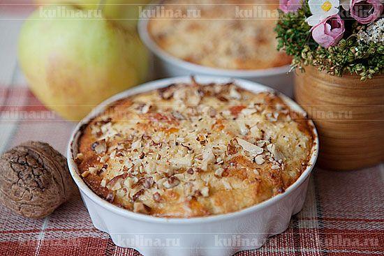 Пудинг из хлеба с творогом и яблоками - рецепт с фото