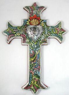 Hand Made Mexican Folk Art Cross LWC001