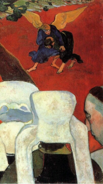 The Vision After the Sermon aka Jacob Wrestling the Angel--Gauguin