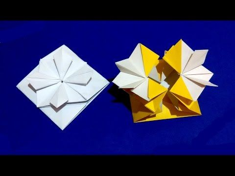 Gift Box with flower and secret message inside. Origami Card. Ideas for gift - YouTube