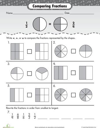 27 Best Fraction Worksheets Images