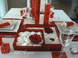 """Résultat de recherche d'images pour """"déco de table de mariage rouge lin blanc"""""""
