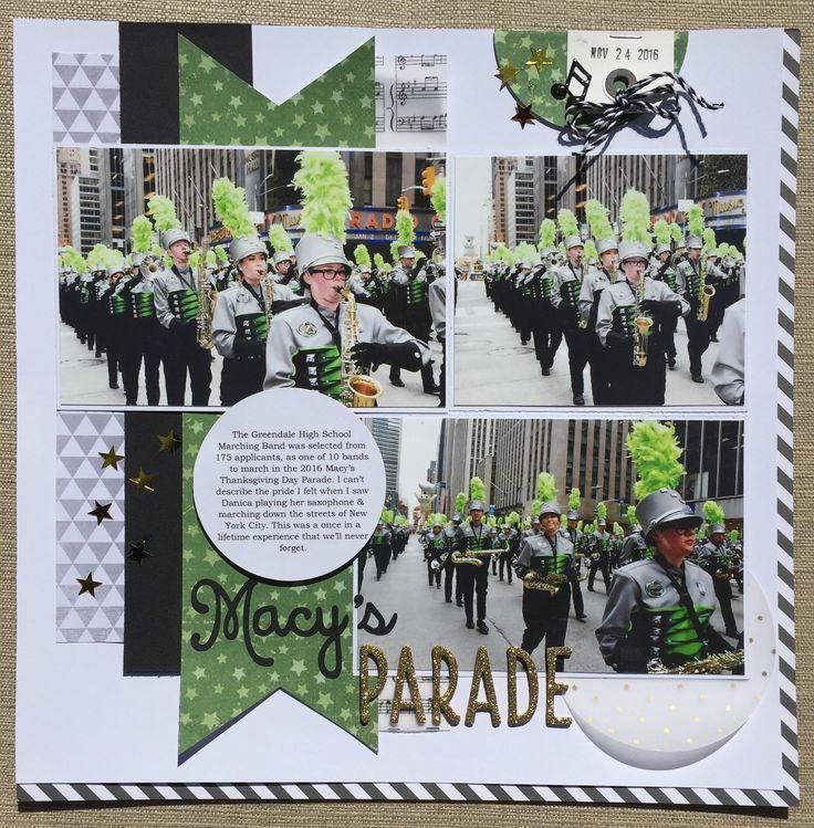 Macy's Parade 2016 - Marching Band Scrapbook Layout Scrapbook.com