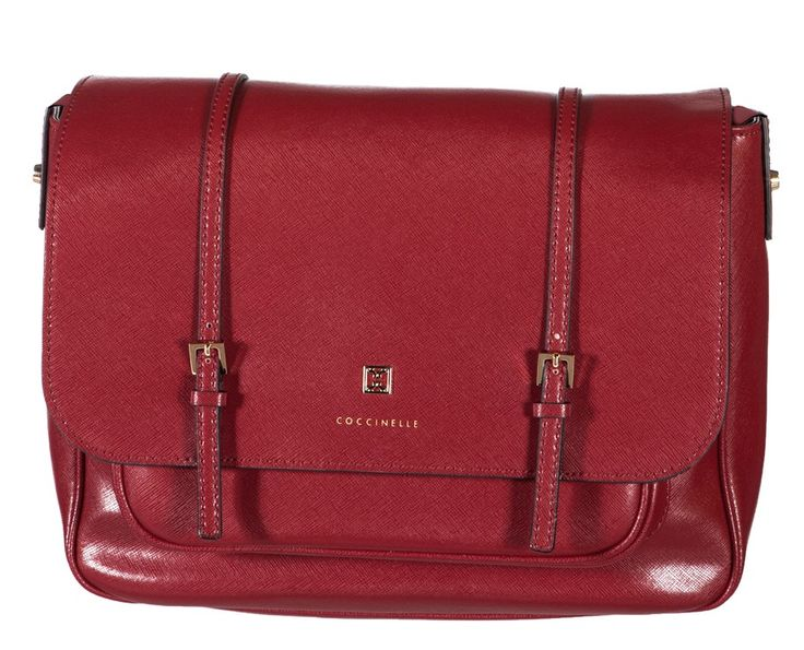 Coccinelle Betty Red Saffiano leather Cross-body satchel