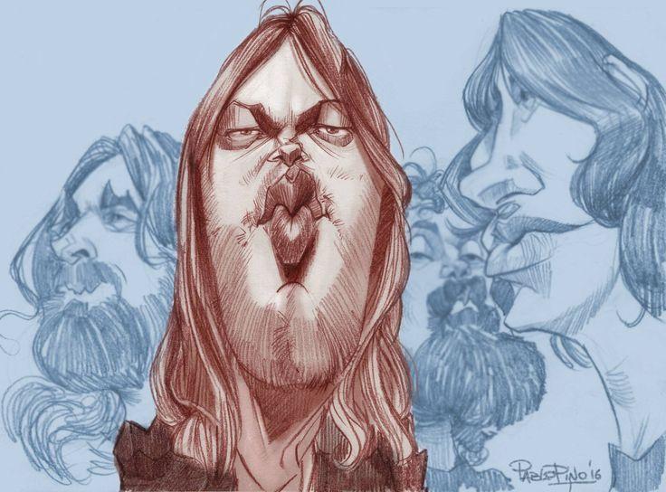 (4) Pablo Pino - Dibujo 15: David Gilmour #15DavidGilmour