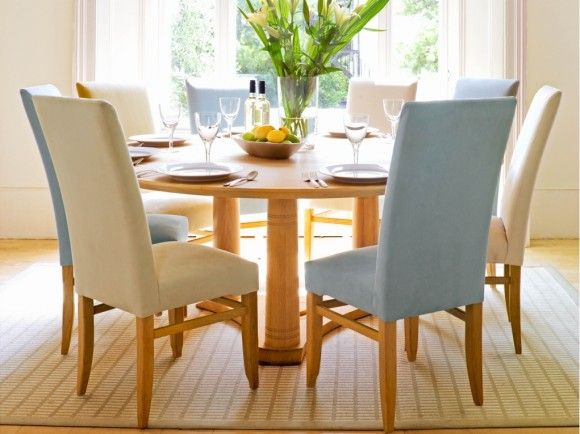 Round Dining Table, Round Extending Oak Dining Table And Chairs