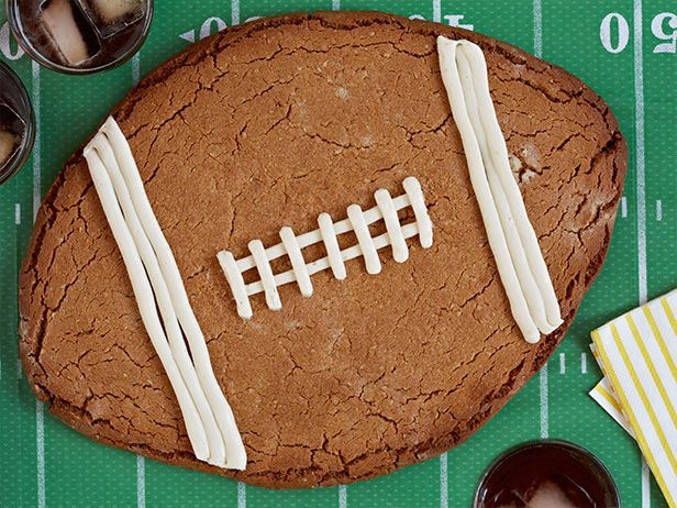 Peanut Butter Football Cookie #BigGame: Food Network, Butter Football, Bowls Parties, Desserts Ideas, Super Bowls, Football Parties, Cookies Recipe, Football Cookies, Peanut Butter Cookies