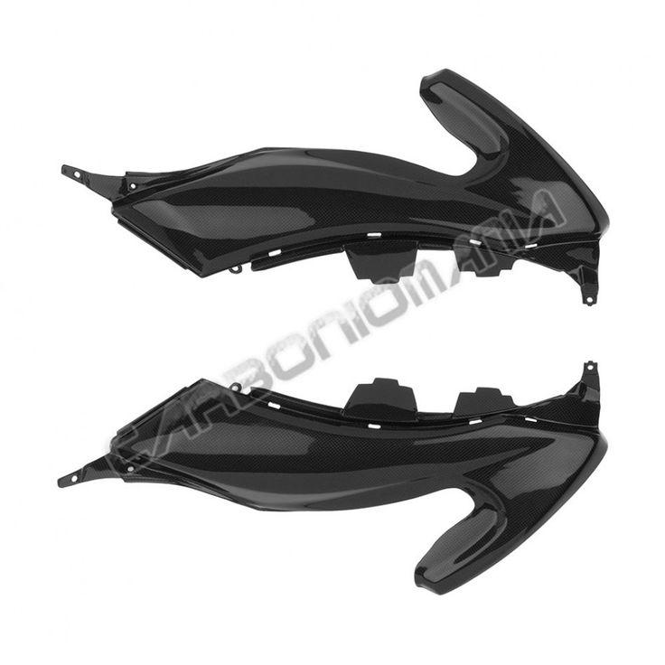 Fianchetti pannelli laterali sottosella in carbonio per Yamaha TMAX 530 2012 Performance Quality - cod. PQY349