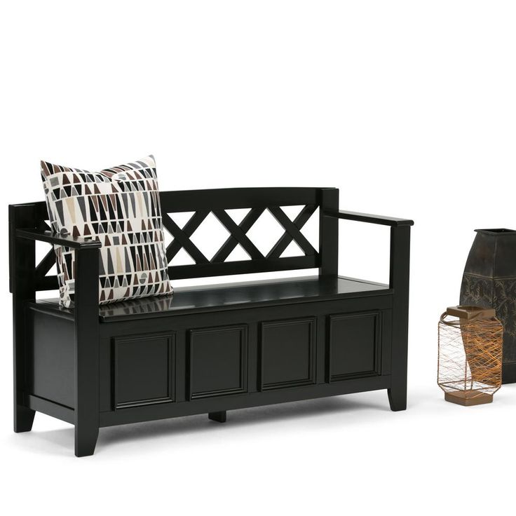 Amherst Wood Entryway Bench with Storage in