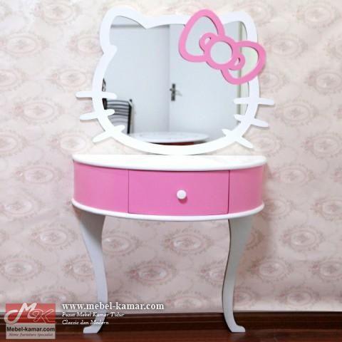 meja rias anak hello kitty, Meja Rias Hello Kitty Cantik, Pusat produksi mebel dan furniture anak , modern desain minimalis dan harga murah