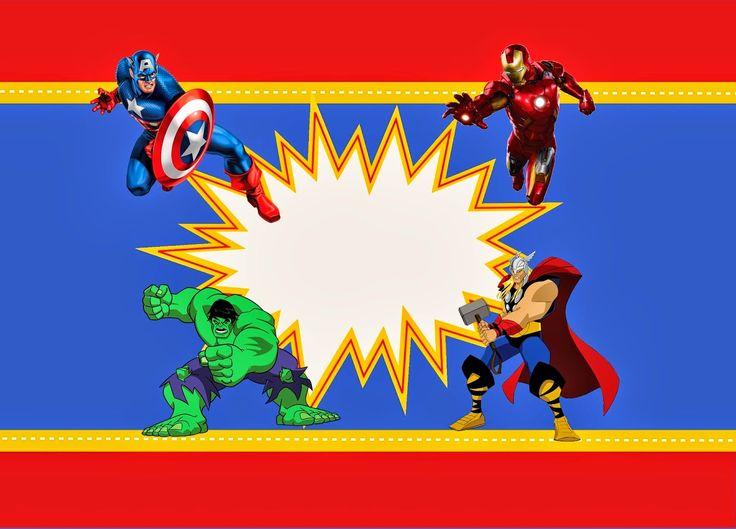 Avengers Pinterest: Avengers Free Printable Kit.