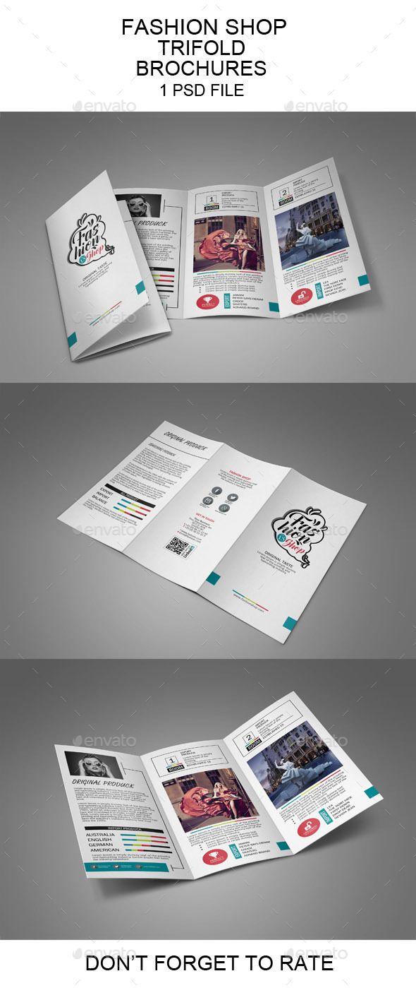 Fashion Shop Trifold Brochure Template PSD
