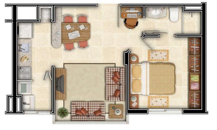 Plano de 4x8 para departamento ahora planos de casas for Diseno de apartamento de 4x8 mts
