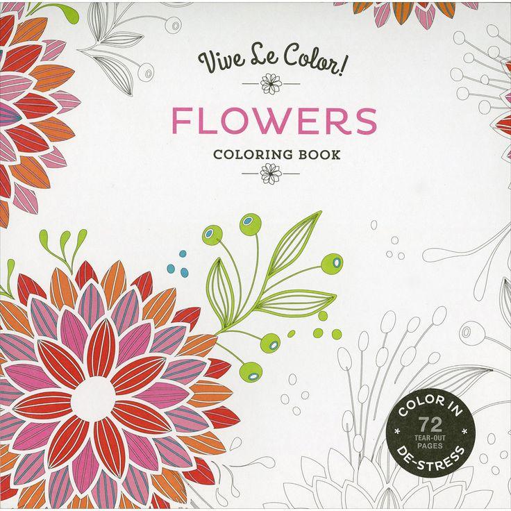 Abrams Books-Vive Le Color! Flowers Coloring Book