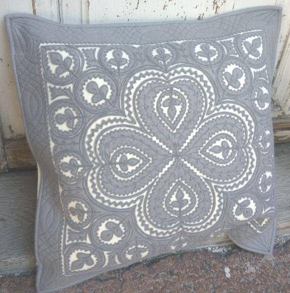 Hand Cut Felt Cushion Covers Greys