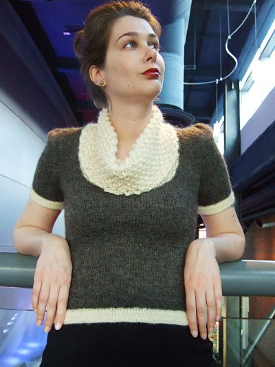 When Sampson met Lila pullover : Knitty Deep Fall 2011  Still have a ways to go to work up to this