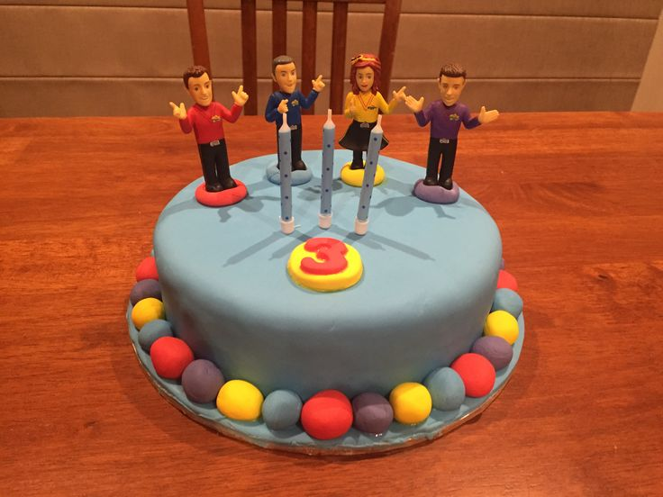 Wiggles cake for Jacob's 3rd birthday- new Wiggles theme party- image only