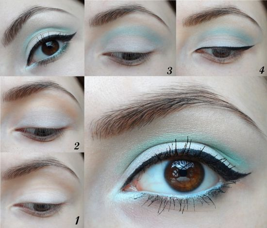 Светлый макияж для карих глаз