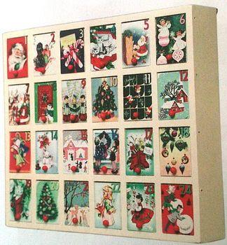 Retro Advent Calendar Box