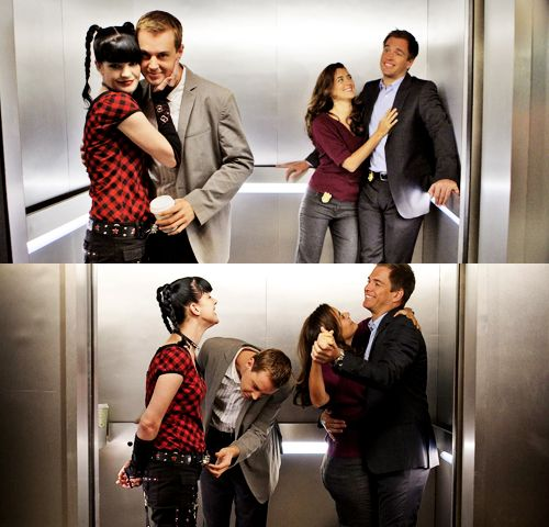 Cote De Pablo, Michael Weatherly, Pauley Perrette, and Sean Murray (Ziva, Tony, Abby, and McGee - NCIS)