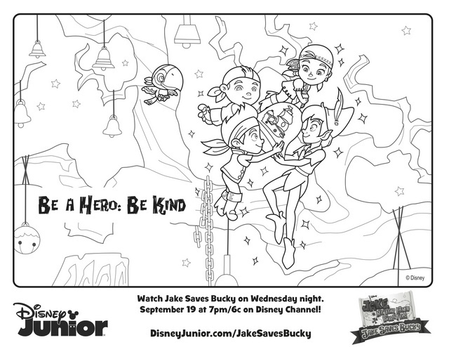 Jake Saves Bucky Peter Pan Free Printable Coloring Pages
