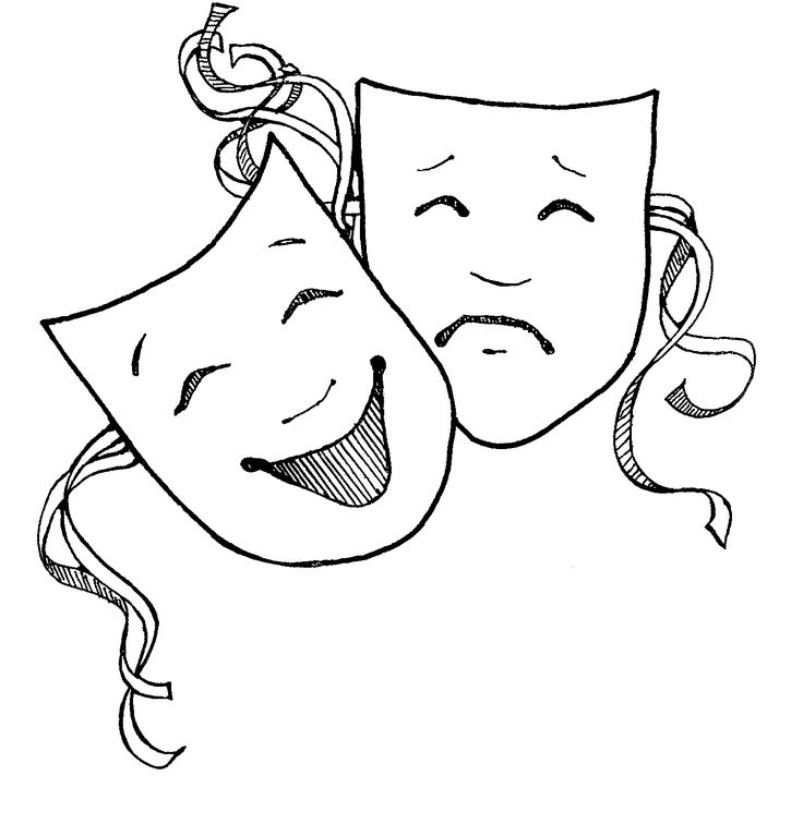 coloring pages of drama masks - photo#14