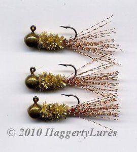 Chenille Flash Tail Crappie Jig - Gold