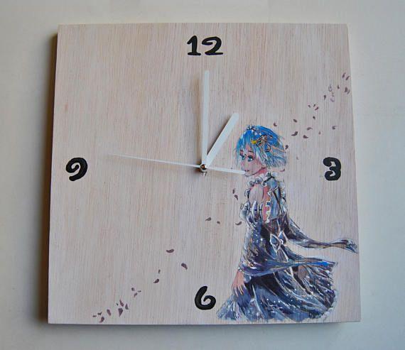 Reloj de pared Manga. Madera contrachapada. Silencioso.
