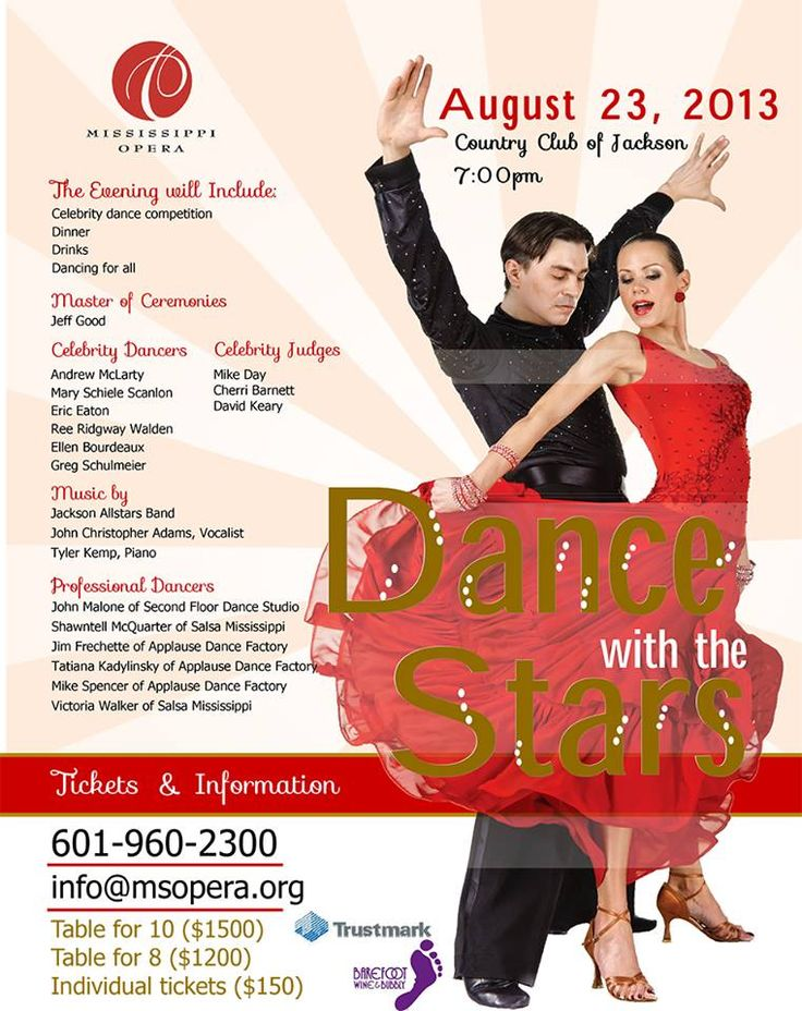 Jim Frechette dances with Ellen Bourdeaux and Tatiana Kadylinsky dances with Andrew Maclarty  at MS Opera Dancing With The Stars