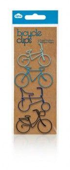 spinacze - BICYCLE CLIPS - niebieskie