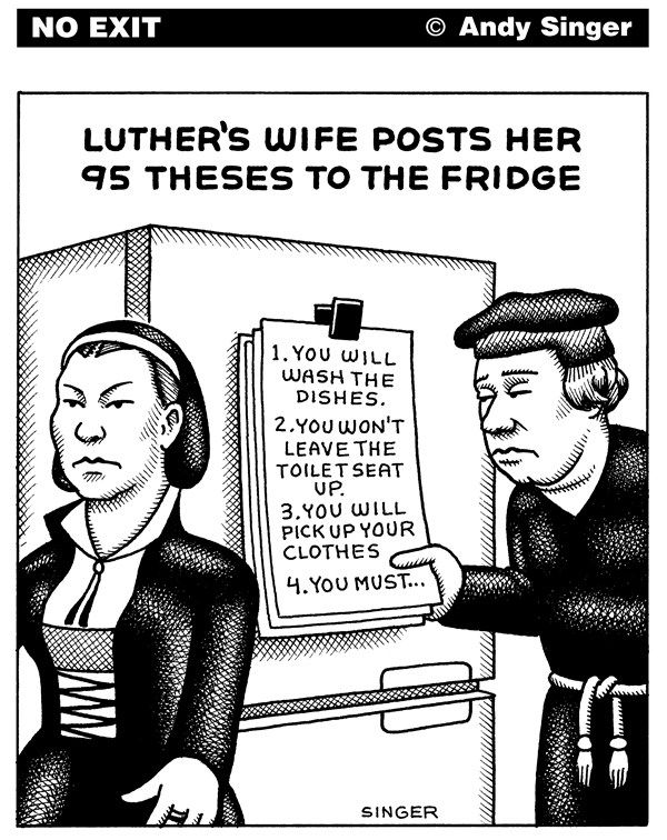 Luthers 95 theses poster