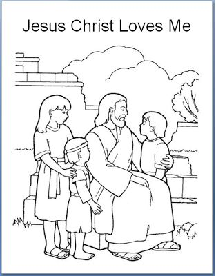 Emmas Place Jesus Christ Loves Each Of Us Primary 3 Lesson 30 Coloring Page