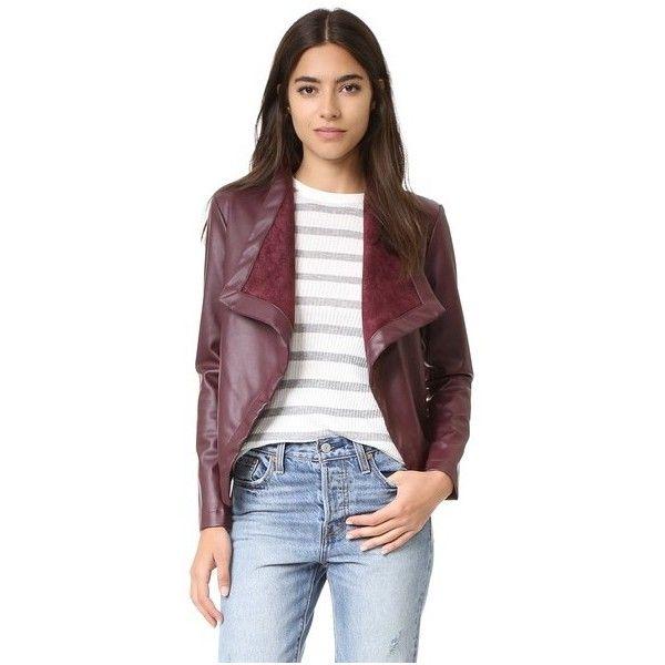 BB Dakota Peppin Drapey Jacket ($96) ❤ liked on Polyvore featuring outerwear, jackets, aubergine, drape jacket, bb dakota jacket, bb dakota and drapey jacket