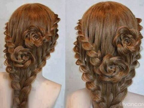 Roses - I love this idea. if my daughter ever grows her hair back out I will so want to try this!!! BEAUTIFUL!!!