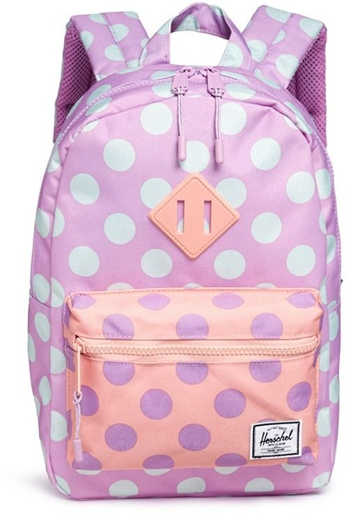Herschel Kids 'Heritage' polka dot canvas 9L kids backpack