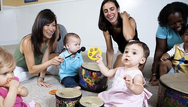 Music Pups a high energy music class for infants, toddlers, and pre-school children.