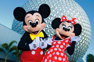 www.becketttravel.com     Mickey & Minnie at Epcot
