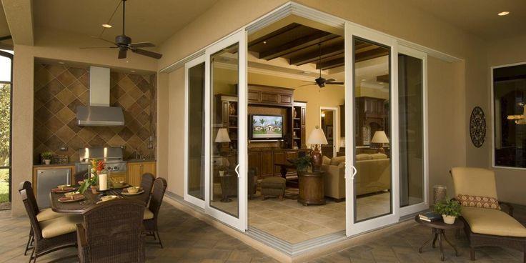 Corner sliding glass doors for lanai / patio / porch ...