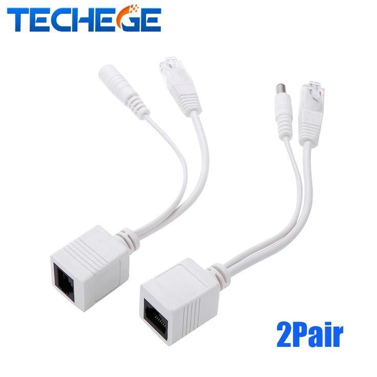 $4.49 (Buy here: https://alitems.com/g/1e8d114494ebda23ff8b16525dc3e8/?i=5&ulp=https%3A%2F%2Fwww.aliexpress.com%2Fitem%2FTechege-2pair-4pcs-PoE-Cable-Splitter-Power-Over-Ethernet-IP-Camera-Connector-PoE-Splitter-Injector-Cable%2F32702073275.html ) Techege 2pair (4pcs) PoE Cable Splitter Power Over Ethernet IP Camera Connector PoE Splitter & Injector Cable Kit PoE Adapter for just $4.49