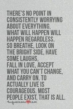 how to live in the moment and stop worrying