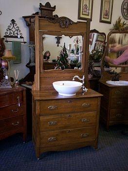 Best REFURBISH DRESSER TO VANITY Images On Pinterest Bathroom - Refurbished bathroom vanity