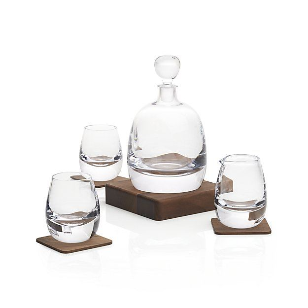 Free Shipping.  Shop Islay Whiskey Set.  Designed for the discerning whiskey drinker, this set features a decanter, two tumblers, a serving jug and walnut wood accessories.