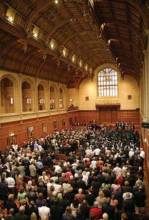 Inside Bonython Hall