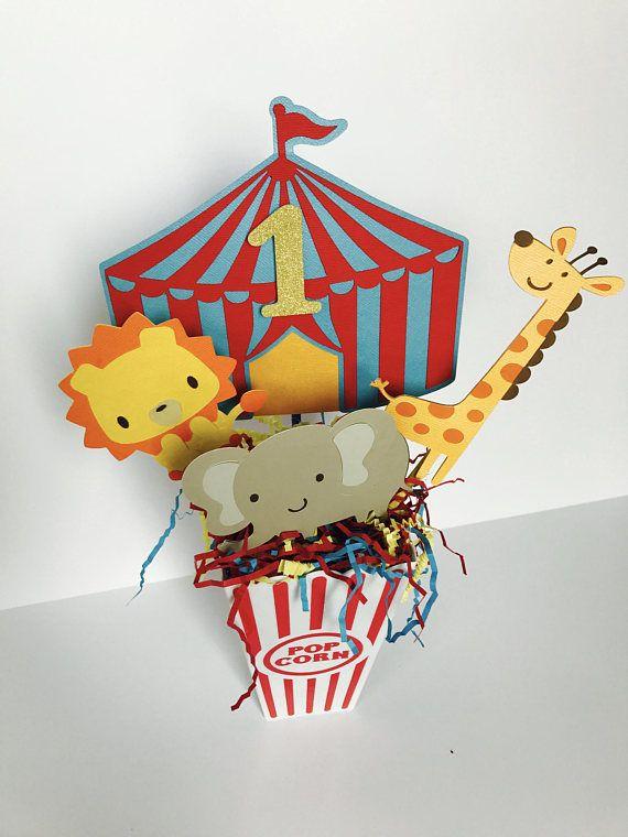 Circus Party Centerpiece Carnival Birthday Centerpiece