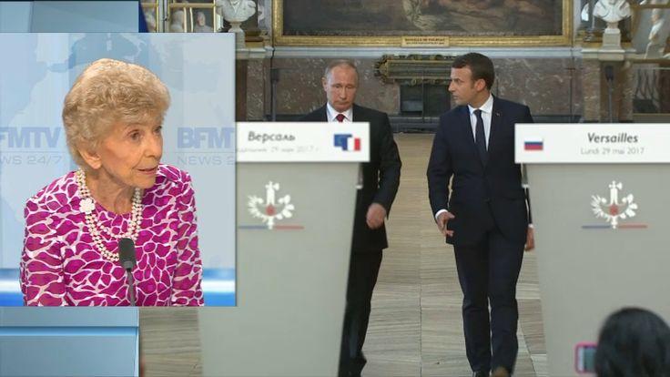 """Carrère d'Encausse: Macron a su parler à Poutine """"de la bonne manière"""""""