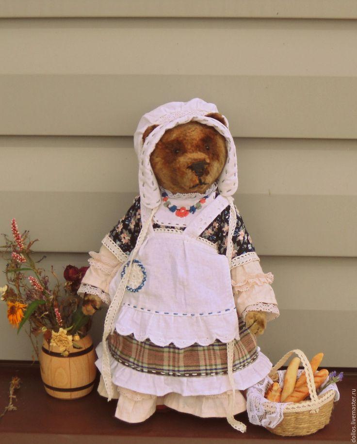 Купить Тетушка Шарлотта - коричневый, мишка, тедди, Франция, багет, винтаж…
