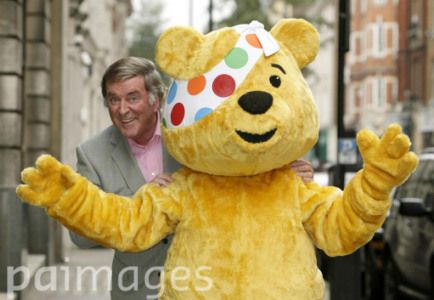 Sir Terry Wogan dies aged 77 - Sir Terry Wogan with Pudsey the bear during the launch of 'Bandaged' - an album of songs recorded by various musicians and radio personalities, including Sir Terry - which will help raise money for The Children in Need Appeal, at the BBC Club in central London.