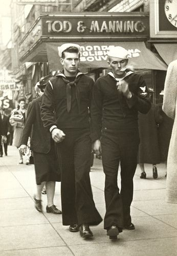 WW2 - Two Sailors on shore leave. Oh Ladies look out. The boys are back in town!